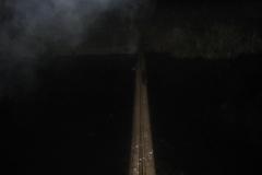 2005.10.07 Prowizoryczna kładka na Jeziorce na wysokości Bielawy