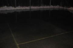 2007.01 OSP Jeziorna wylewa lodowiska na Parceli i na Grapie