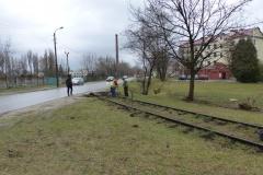 2014.03 Rozbiórka bocznicy kolejowej w Mirkowie
